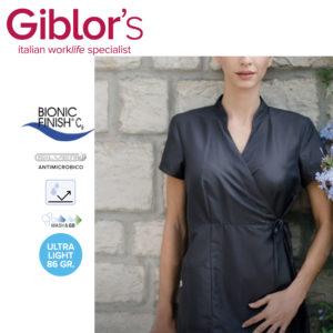 kimono grigio nero bianco antimacchia antimacchia no stiro ultraleggero antimicrobico