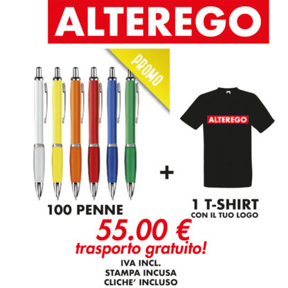 penne e t-shirt personalizzate alterego