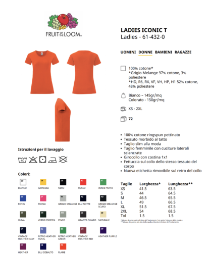 T-SHIRT FRUIT OF THE LOOM DONNA