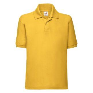 polo bambino personalizzata stampata ricamata gialla