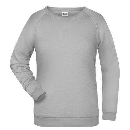 felpa girocollo donna personalizzata stampata ricamata alterego grigio chiaro