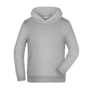 felpa cappuccio bambino personalizzata ricamata stampata alterego grigio chiaro