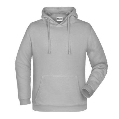 Felpa con cappuccio personalizzata stampata ricamata grigio chiaro