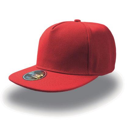 Cappello Atlantis Snap five visiera piatta personalizzato stampato ricamato alterego hip pop rosso