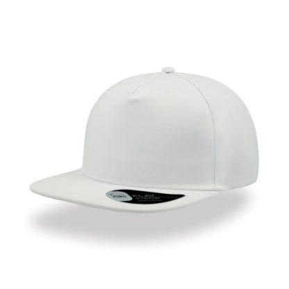 Cappello Atlantis Snap five visiera piatta personalizzato stampato ricamato alterego hip pop bianco