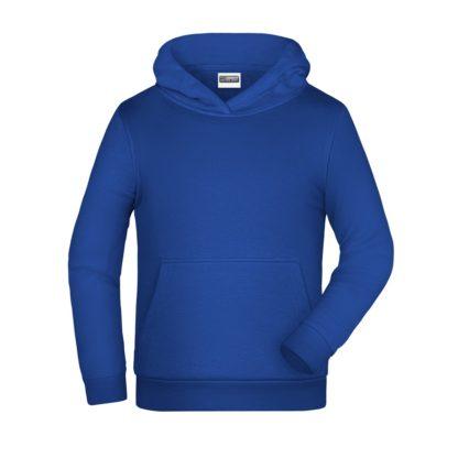 felpa cappuccio bambino personalizzata ricamata stampata alterego blu royal