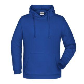 Felpa con cappuccio personalizzata stampata ricamata blu royal