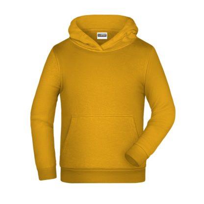 felpa cappuccio bambino personalizzata ricamata stampata alterego giallo scuro