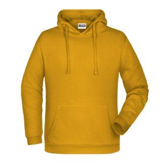 Felpa con cappuccio personalizzata stampata ricamata giallo scuro