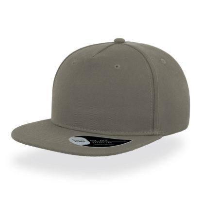 Cappello Atlantis Snap five visiera piatta personalizzato stampato ricamato alterego hip pop grigio
