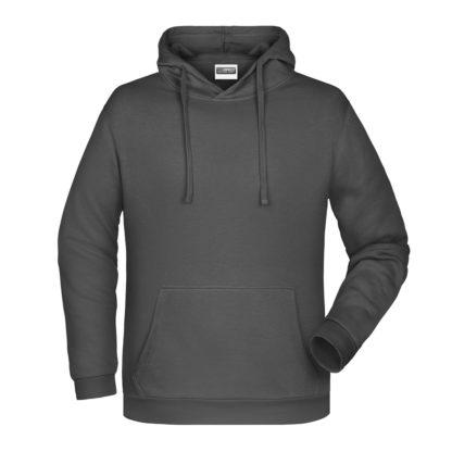 Felpa con cappuccio personalizzata stampata ricamata grigio scuro