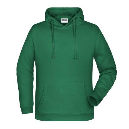 Felpa con cappuccio personalizzata stampata ricamata verde