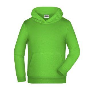 felpa cappuccio bambino personalizzata ricamata stampata alterego verde lime