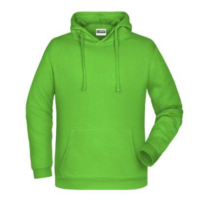 Felpa con cappuccio personalizzata stampata ricamata verde lime