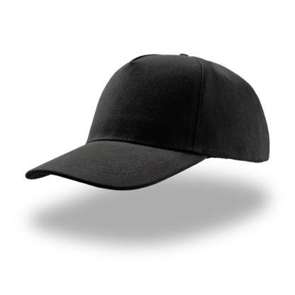 cappellino nero atlantis 5 pannelli liberty five personalizzato stampato ricamato alterego