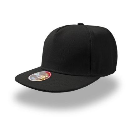 Cappello Atlantis Snap five visiera piatta personalizzato stampato ricamato alterego hip pop nero