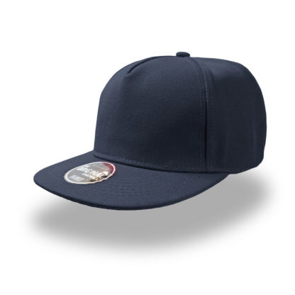 Cappello Atlantis Snap five visiera piatta personalizzato stampato ricamato alterego hip pop blu navy