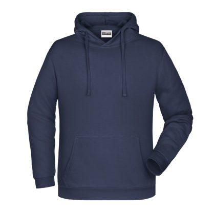 Felpa con cappuccio personalizzata stampata ricamata blu navy