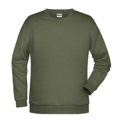 Felpa girocollo unisex stampata ricamata personalizzata alterego verde oliva militare