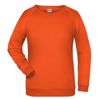 felpa girocollo donna femminile personalizzata stampata ricamata alterego arancione