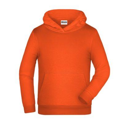 felpa cappuccio bambino personalizzata ricamata stampata alterego arancione