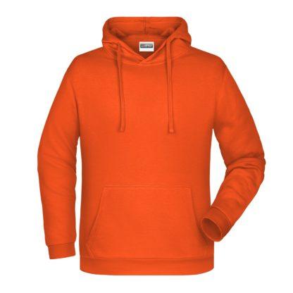 Felpa con cappuccio personalizzata stampata ricamata arancione