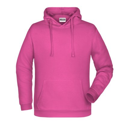 Felpa con cappuccio personalizzata stampata ricamata rosa