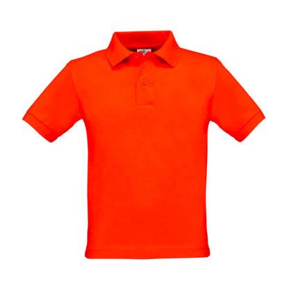 polo bambino personalizzata stampata ricamata arancione