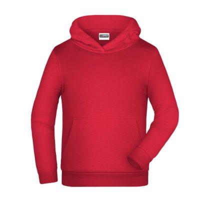 felpa cappuccio bambino personalizzata ricamata stampata alterego rossa