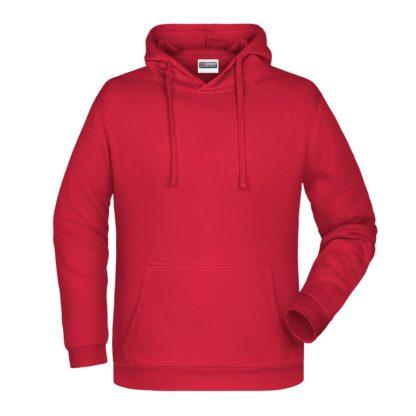 Felpa con cappuccio personalizzata stampata ricamata rossa