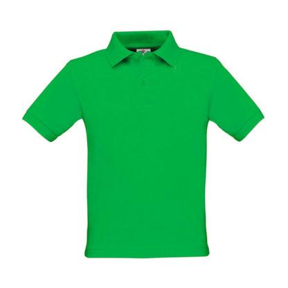 polo bambino personalizzata stampata ricamata verde prato