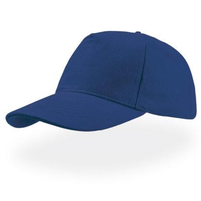 cappellino blu royal atlantis 5 pannelli liberty five personalizzato stampato ricamato alterego