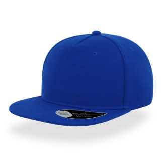 Cappello Atlantis Snap five visiera piatta personalizzato stampato ricamato alterego hip pop blu royal