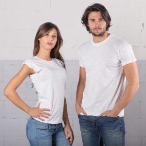 t-shirt cotone fiammato fashon personaizzata stampata alterego bianca