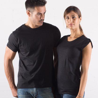 t-shirt cotone fiammato fashon personaizzata stampata alterego nera