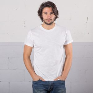 t-shirt cotone fiammato fashon personaizzata stampata alterego bianca uomo