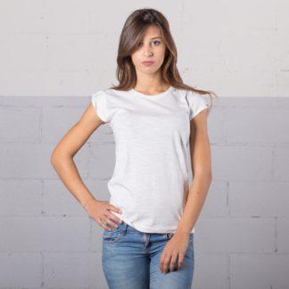 t-shirt cotone fiammato fashon personaizzata stampata alterego bianca donna