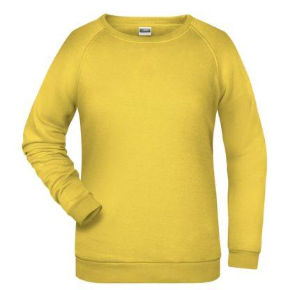 felpa girocollo donna femminile personalizzata stampata ricamata alterego gialla