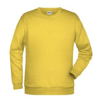 Felpa girocollo unisex stampata ricamata personalizzata alterego gialla