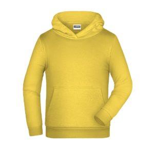 felpa cappuccio bambino personalizzata ricamata stampata alterego gialla