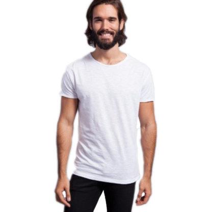 tsualb Tessuto fiammato. Collo e maniche senza finitura. 120 g/m² 100% Cotone taglio vivo nera t shirt maglietta jhk alterego personalizzata taglio vivo bianca