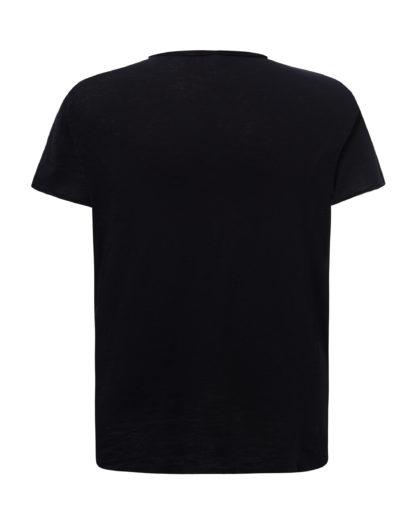 tsualb Tessuto fiammato. Collo e maniche senza finitura. 120 g/m² 100% Cotone taglio vivo nera t shirt maglietta jhk alterego personalizzata taglio vivo nera