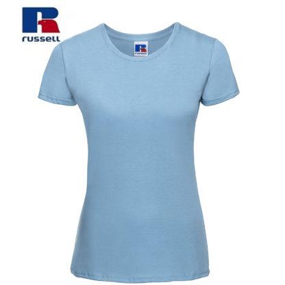 t-shirt maglietta russell femminile donna manica corta personalizzata alterego maglietta celeste