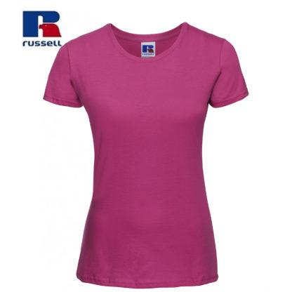 t-shirt maglietta russell femminile donna manica corta personalizzata alterego maglietta fuchsia fuxia