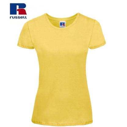 t-shirt maglietta russell femminile donna manica corta personalizzata alterego maglietta gialla