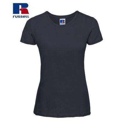 t-shirt maglietta russell femminile donna manica corta personalizzata alterego maglietta blu navy