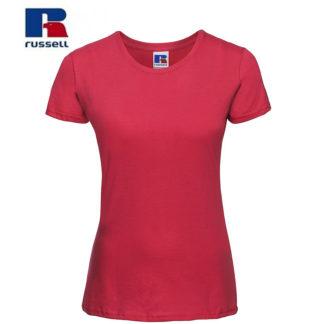 t-shirt maglietta russell femminile donna manica corta personalizzata alterego maglietta rossa