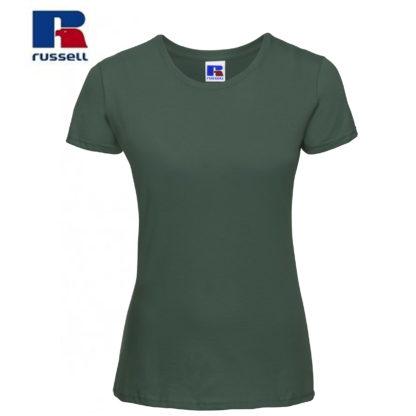 t-shirt maglietta russell femminile donna manica corta personalizzata alterego maglietta verde bottiglia