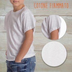 t-shirt cotone fiammato fashon personaizzata stampata alterego bambino
