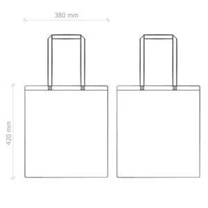 shopper bag in cotone personalizzata stampata alterego economica scheda tecnica